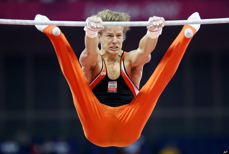 Gymnast from the Netherlands Epke Zonderland performs on the horizontal bar during the Artistic Gymnastics men's qualification. Outstanding performance #OS2012 !