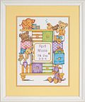 Bucilla Princess Birth Record - Cross Stitch Kit. Once upon a time, a princess was born. Precious and playful designs to dress your nursery with delight. Kit in