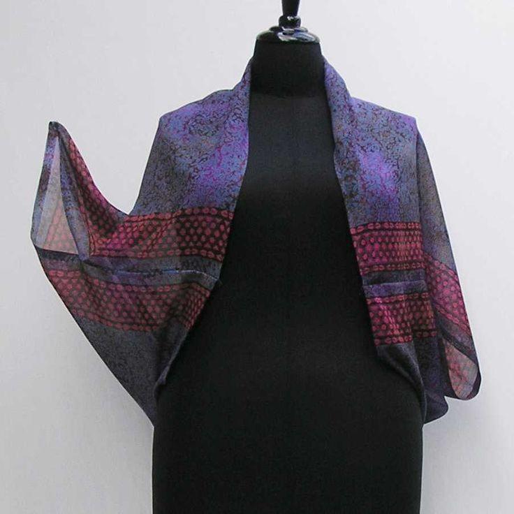 Purple Shrug, plus size shrug, purple bolero, upcycled shrug, upcycled bolero, refashioned shrug, purple sari bolero, boho shrug, cover up by Rethreading on Etsy