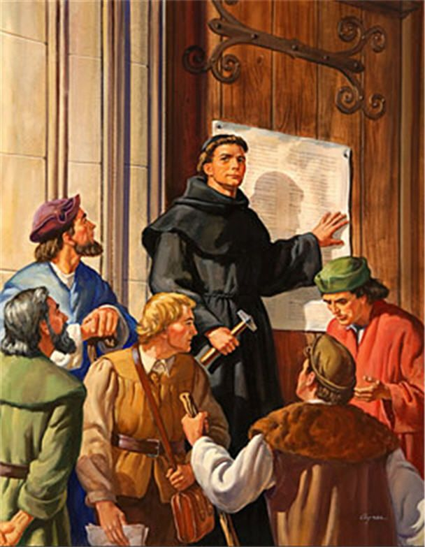 history of martin luther and the 95 thesis The 95 theses, also known as the disputation on the power and efficacy of indulgences, was a list of discussion topics that martin luther nailed to the door of wittenberg castle church in 1517 to protest the sale of indulgences his protest ignited the protestant reformation born in 1483 to a .