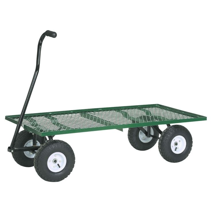 Haul up to a 1000 pounds of materials, supplies, and more with the Steel Mesh Deck Wagon from Harbor Freight Tools!