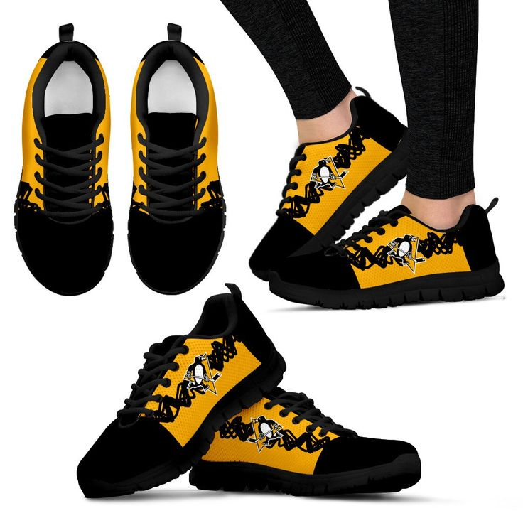 Doodle Line Amazing Pittsburgh Penguins Sneakers V1