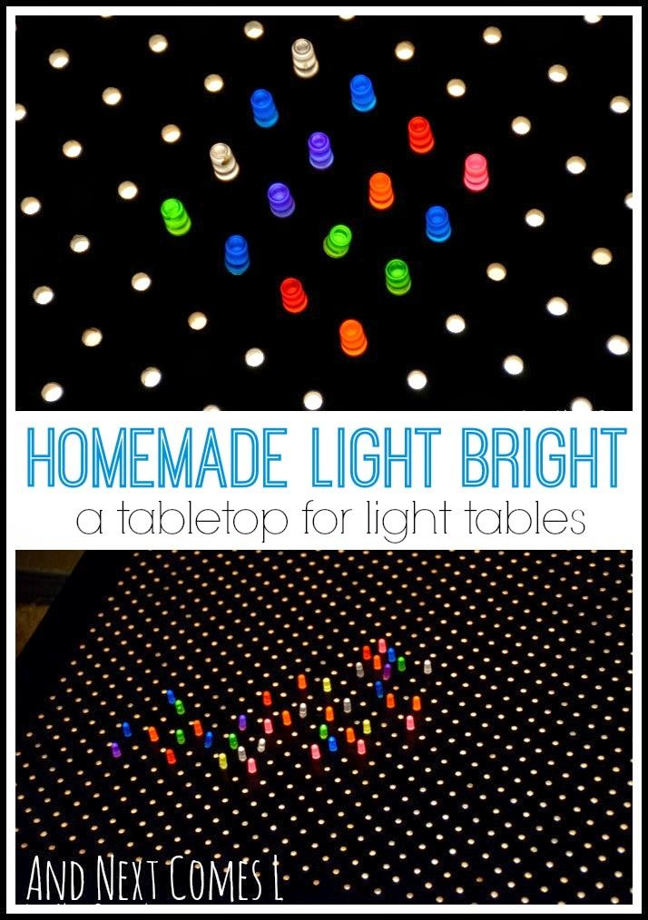 I loved these as a kid! How to make a homemade light bright.