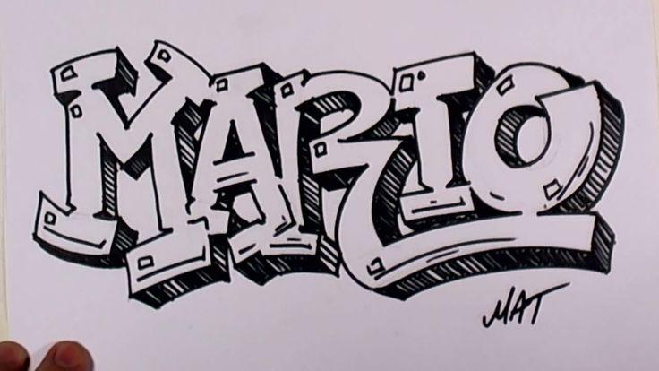 Graffiti Writing Mario Name Design #38 in 50 Names Promotion