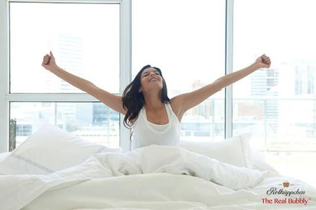 Woke up before your alarm clock? Celebrate! #SavourTheBubbly #SparklingWine #TheRealBubbly