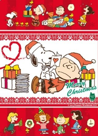 """Merry Christmas Charlie Brown!"", Snoopy and Lucy too."