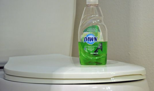 Use Dawn dish soap and hot water to unclog a toilet. This works like a charm! Ive also done this without using hot water...pour about 1 cup of Dawn into the toilet, let sit for 15-20 minutes and just flush!