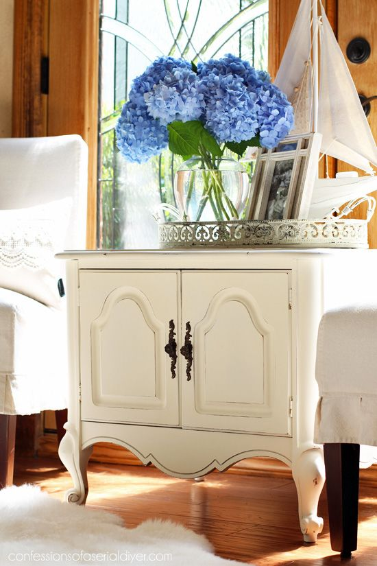 French Provincial End Table Makeover From Confessions Of A Serial  Do It Yourselfer Blend
