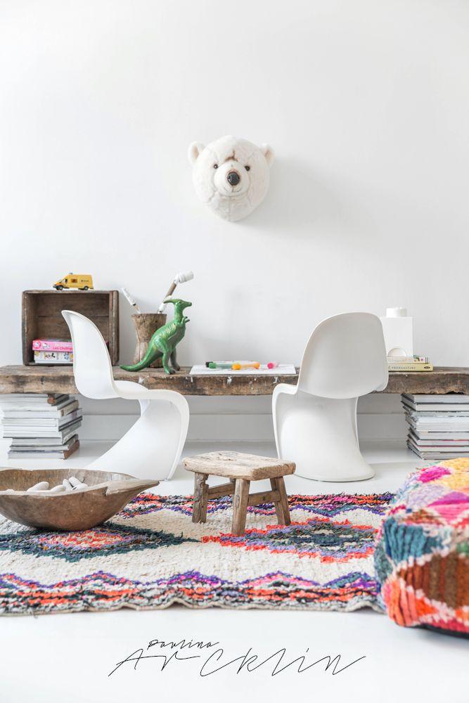 Farben, Materialien, Schreibtisch für 2odermehr