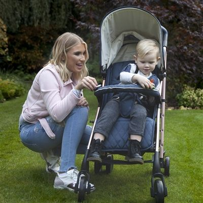 My Babiie Billie Faiers MB51 Rose Gold and Navy Stroller