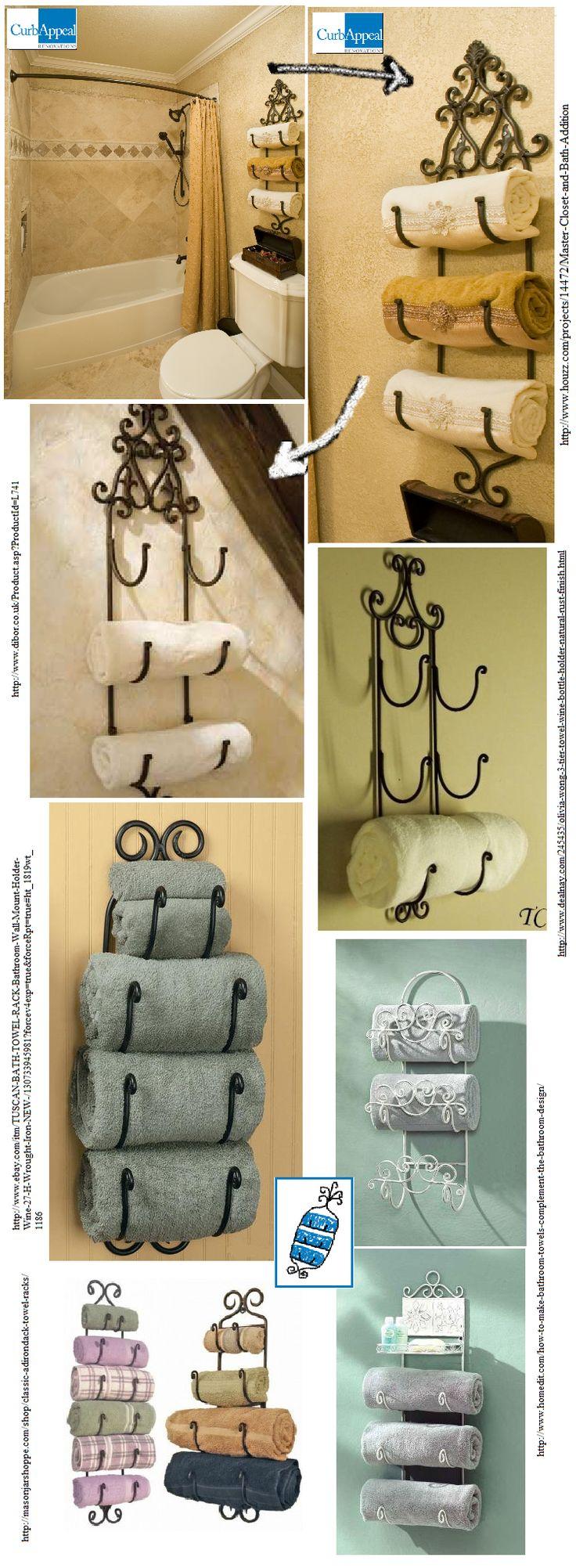 Best Bathroom Towel Storage Ideas On Pinterest Towel Storage - Wine rack towel storage for small bathroom ideas