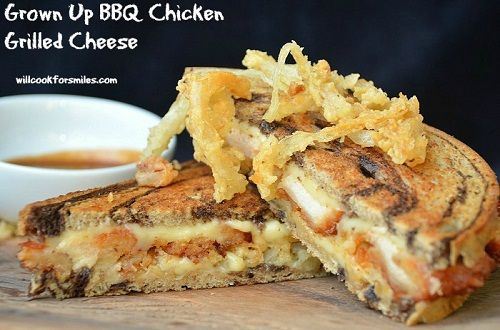 Adult_BBQ_Chicken_Grilled_Cheese_2ed | Party Sandwiches | Pinterest
