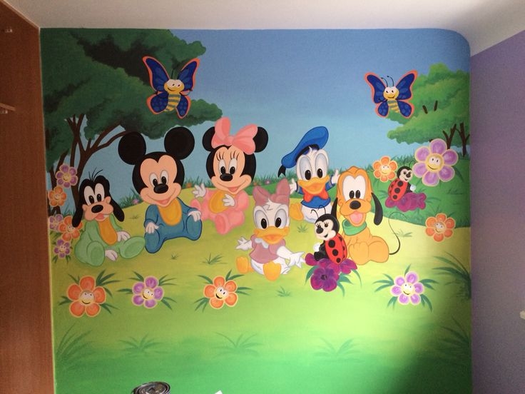 Finding dory painted wall mural Kids Wall Murals Pinterest