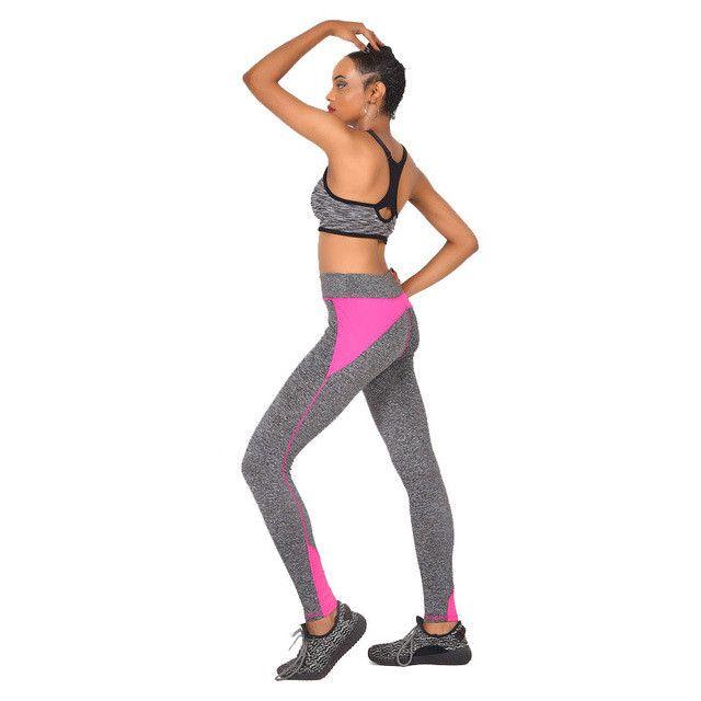 Ladies Leggings Sporting High Waist Fitness Workout Pants Gray Activewear 2042