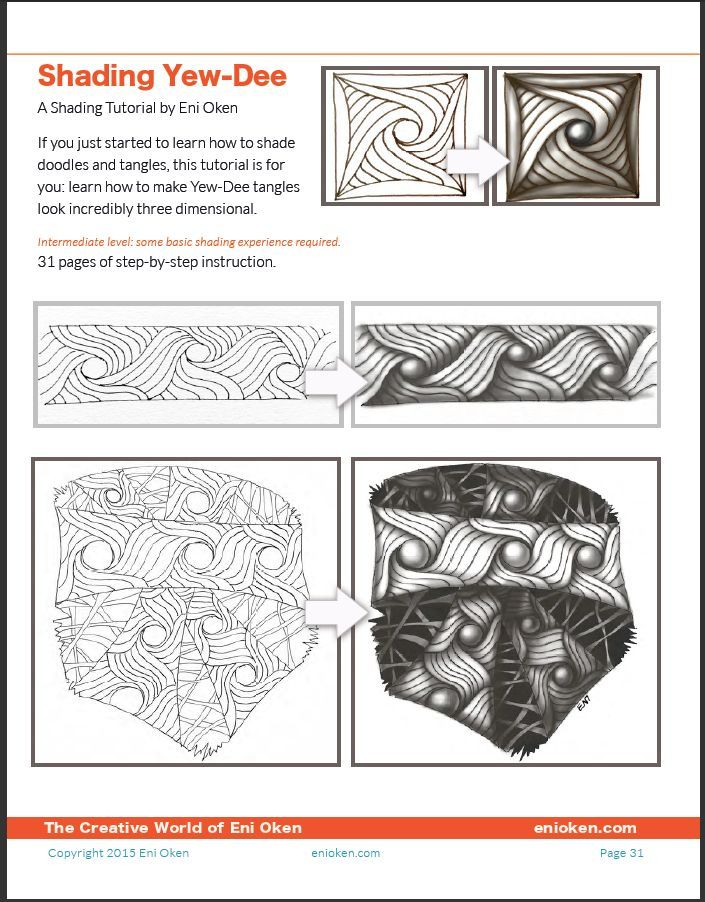 Shading Zentangle Yew-dee - tutorial - enioken.com