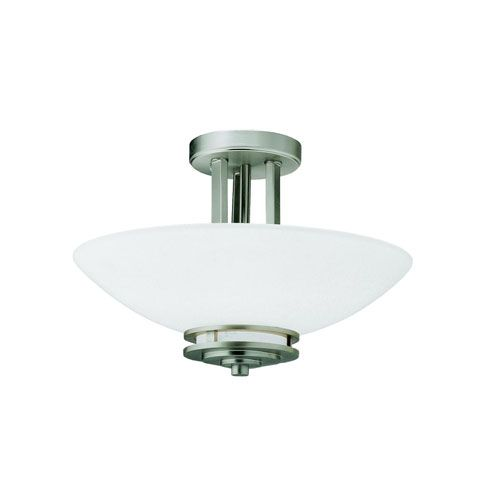 Hendrik Brushed Nickel Semi-Flush Ceiling Light / 4218 / Brushed Nickel Finish 10 Inches High 15 Inches Wide