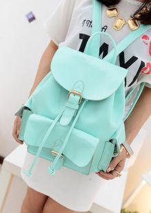 [grhmf2200074]Sweet Candy Mint Green Backpack  | bestwish - Bags & Purses on ArtFire