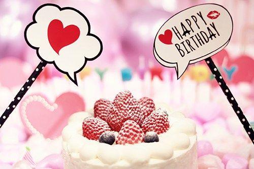 Happy Birthdayアニメーションおめでとうお祝いお誕生日
