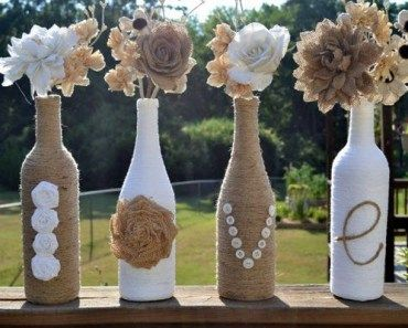 Decorar y reutilizar botellas de vidrio