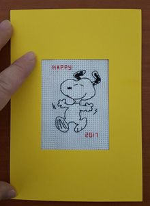 Dancing Snoopy Cross Stitch Card Shop Issue 59 March/April 2008 Saved