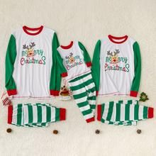 Family Pajamas Striped Set Winter New Parent-child Wear Casual Festival Cotton Merry Christmas Comfort  Family Pajamas Striped Set Winter New Parent-child Wear Casual Festival Cotton Merry Christmas Comfort