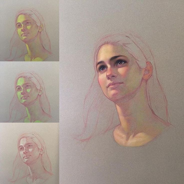 """Portrait of a young girl. This demo featured in my ebook """"Create Realistic Skin Tone with Pastel Pencil"""" volume 2. It's available on my website: www.icuong.com. #ebooks #drawing #pastel #pastelpencils #pastelpainting #portrait #skintone #realism #arttutorial #artteaching"""