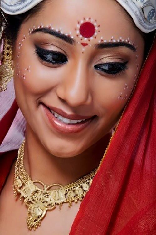 The placement of the bindi between the eyebrows is significant in that is is the site of Ajna, the sixth chakra and place of the concealed wisdom. There are many simultaneous significances both aesthetic and spiritual to the wearing of the bindi.