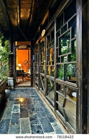 Ancient chinese house interior