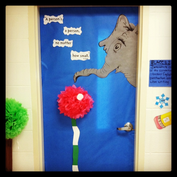 teacher door decoration ideas just bcause