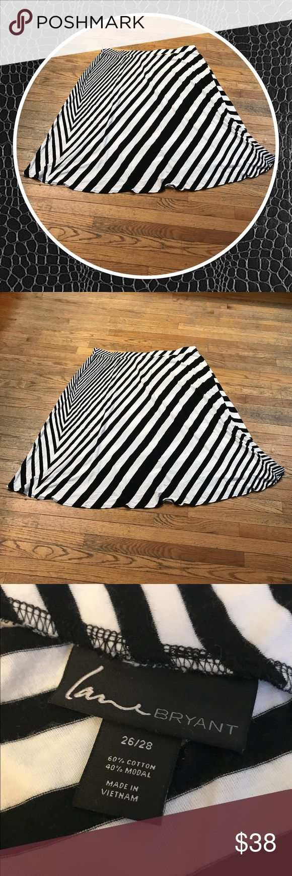 """Lane Bryant Biased Stripped Maxi Skirt New without tags.  Purchased and never had a chance to wear.  35"""" length.  Black and white biased stripes.  Great for spring and summer! Please feel free to make a reasonable offer! Location ☀️ Lane Bryant Skirts Maxi"""