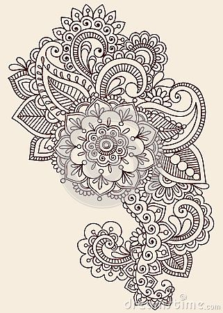 Henna Mehndi Paisley Doodle Vector Design by Blue67, via Dreamstime
