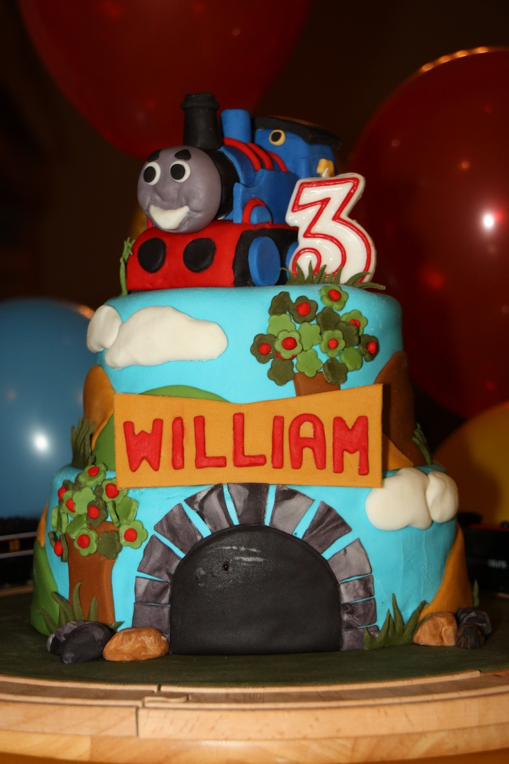 Thomas The Tank Engine Cake For A 3 Year Old Birthday Boy