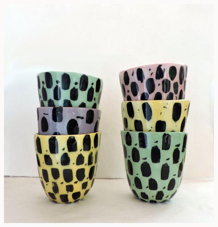 vaso cuenco ceramica artesanal pop