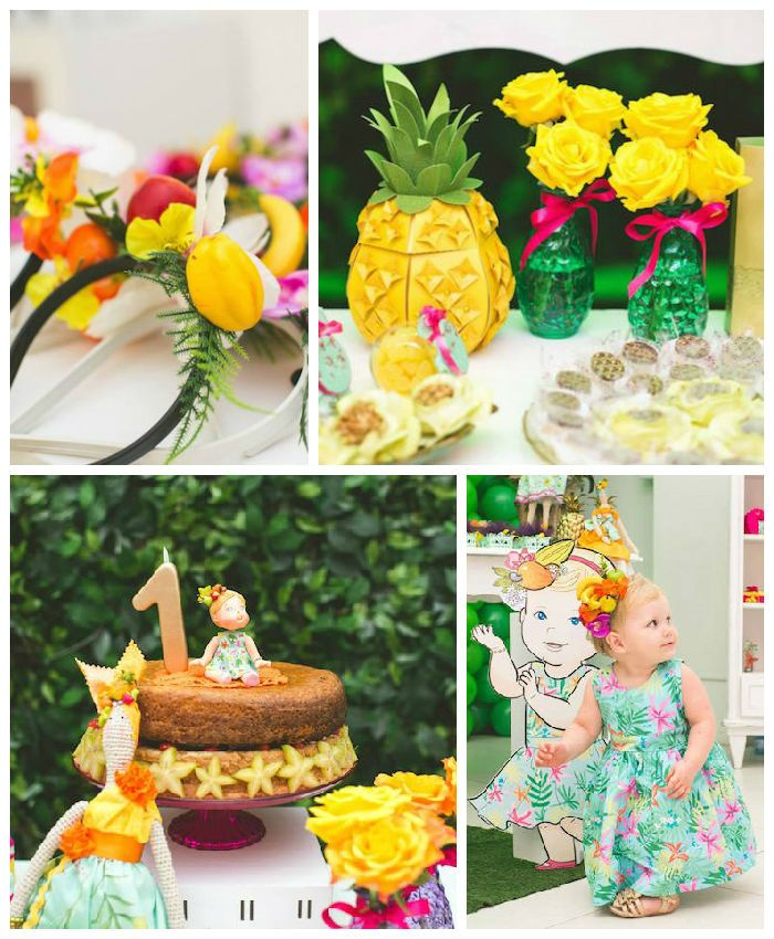 39 best images about pineapple party ideas via kara 39 s Ananas dekoration