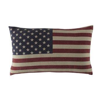 Coussin drapeau américain en coton 40 x 60 cm USA