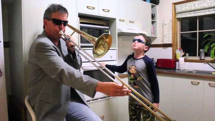 A Father and Son Cover the Timmy Trumpet and Savage Song 'Freaks' With a Trombone and an Oven Door