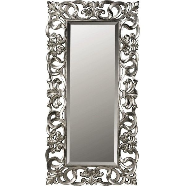 Silver Scroll Leaner Mirror ($180) liked on Polyvore ...