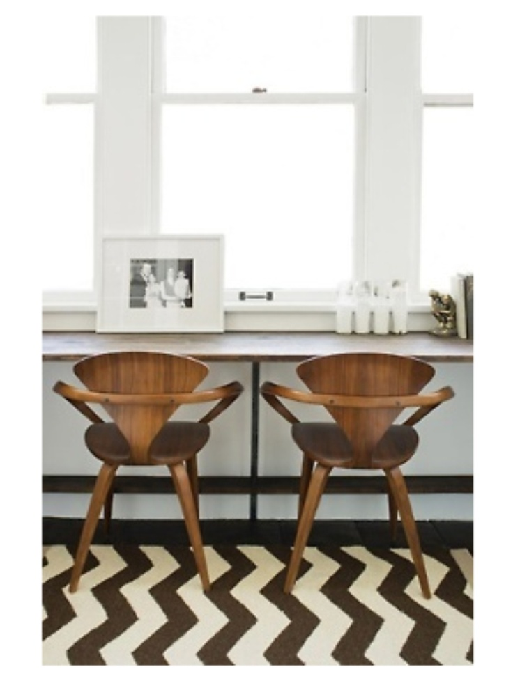 some day norman cherner chairs chevron rug cherner chairs in a project by phillip k erickson