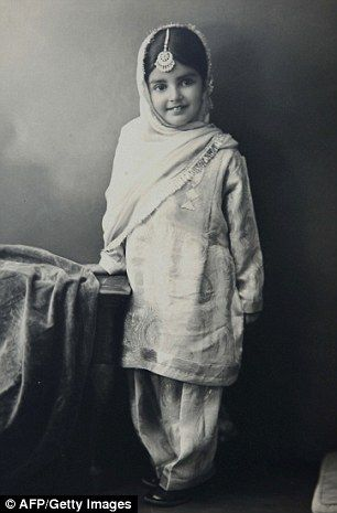The young princess Amrit Kaur (now 80), the eldest daughter of the late Maharajah of Faridkot, who has just won a 24-year battle for her Maharajah father's Rs 20,000 crore fortune