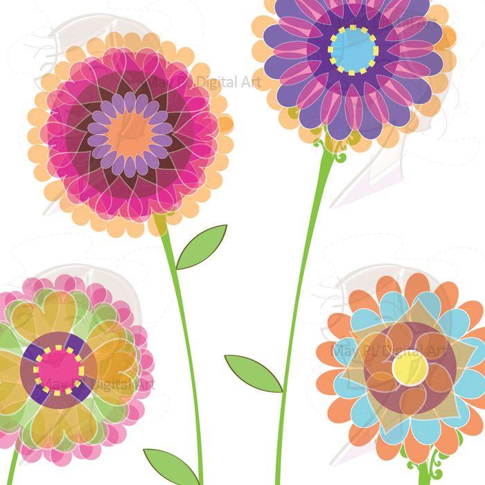 free scrapbook flower clipart - photo #45