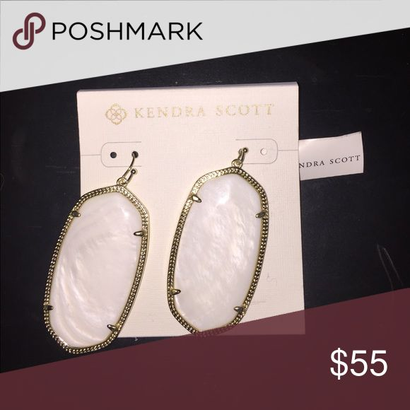 Kendra Scott Danielle Earrings Pearl white Kendra Scott Danielle earrings. Brand new, still in packaging. Kendra Scott Jewelry Earrings