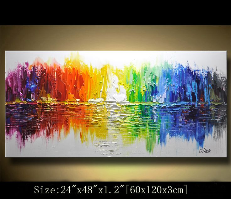 artwork for the office. Contemporary Wall Art,Abstract Painting,Modern Impasto Textured Landscape Painting,Palette Knife Painting,Painting On Canvas By Chen #1 Artwork For The Office A