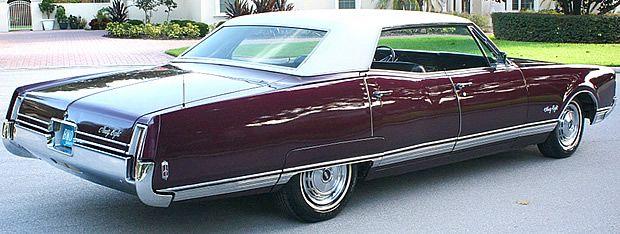 1968 Oldsmobile Ninety Eight Rear View Oldsmobile American Classic Cars Sedan