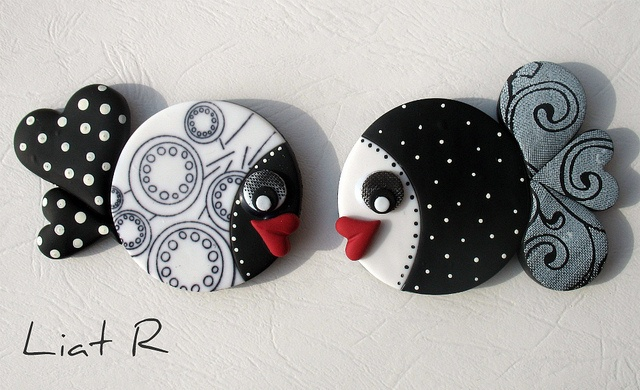 Polymer clay Fish magnet   Flickr - Photo Sharing!