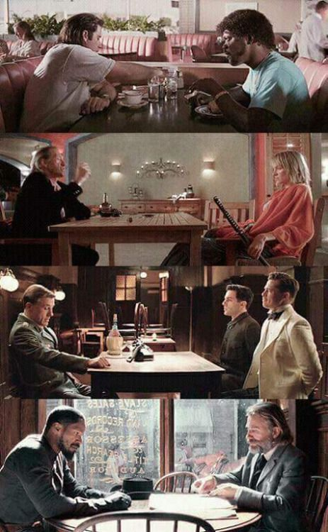 Quentin Tarantables Pulp Fiction (1994)Kill Bill (2003)Inglorious Bastards (2009)Django Unchained  (2012)(Facebook)