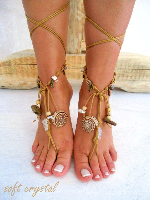 Barefoot Sandals Barefoot Beach native america Jewelry barefoot sandal, Hippie Sandals Foot Jewelry Toe Thong