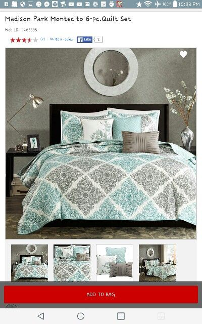 Jcpenny bedding  gray and teal