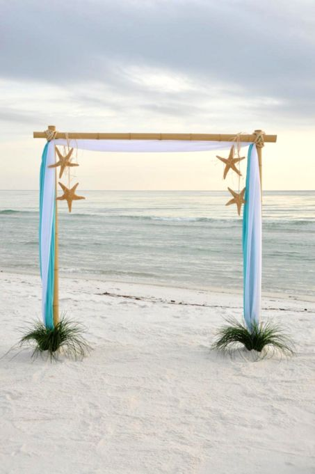 What A Lovely Way To Frame The Newly Weds At Their Beach Ceremony