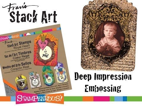 Stack Art - Deep Impression Embossing - Add super cool texture to your #Stampendous Stack Art Projects!