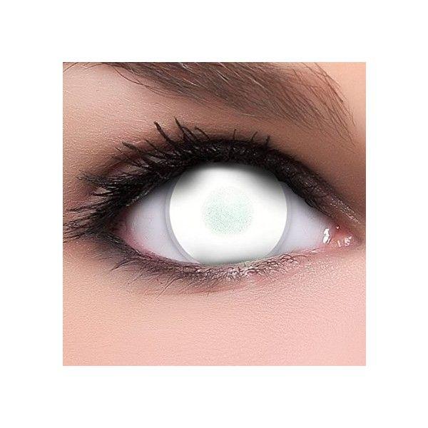 Amazon.de: Linsenfinder Dead Zombie Kontaktlinsen weiß ($19) ❤ liked on Polyvore featuring eyes